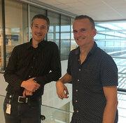 Pierre Chymkowitch (left) and Jorrit Enserink (click to enlarge)