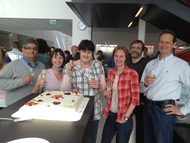 Tumor Biology scientists celebrating
