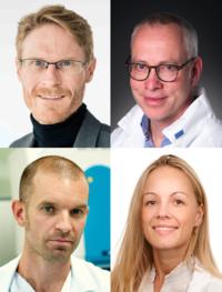 OUS scientists involved: Inge C. Olsen and Andreas Barratt-Due (top), Marius Trøseid and Victoria C. Simensen (bottom)
