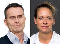 Department head Erik Rokkones and head of research Kristina Lindemann